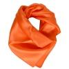 Carré en soie orange