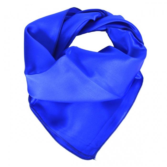 Carré en soie bleu roi