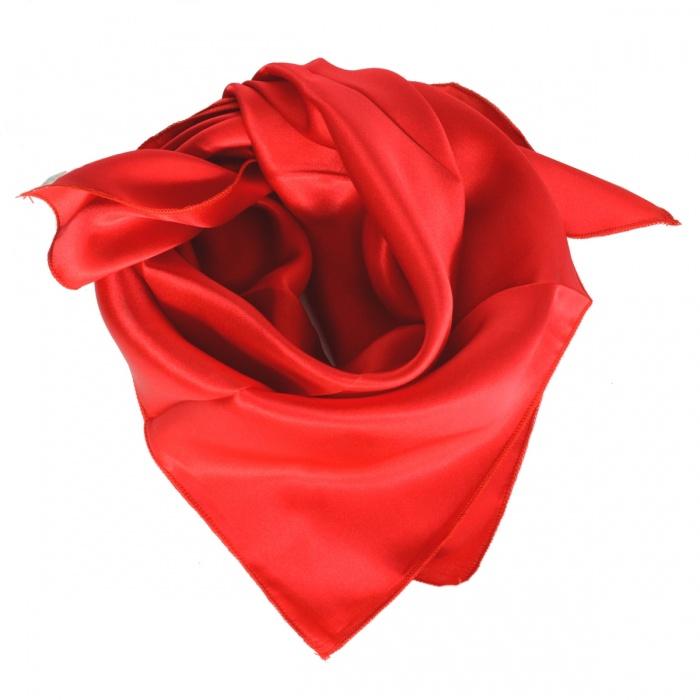 Carré en soie rouge