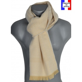 Echarpe homme laine Tchao beige