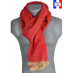 Echarpe homme laine Tchao rouge
