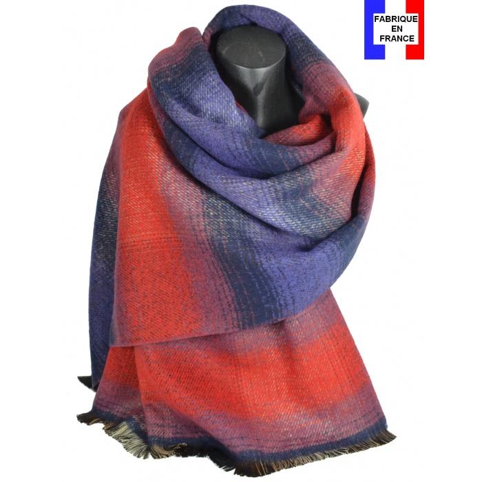 Châle laine-acrylique Osmose rouge