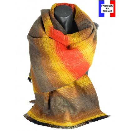 Châle laine-acrylique Osmose jaune