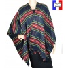 Poncho fin Entracte bleu made in France