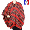 Poncho fin Entracte rouge made in France