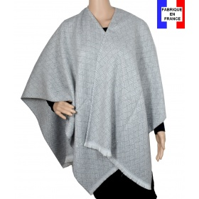 Poncho After gris made in France