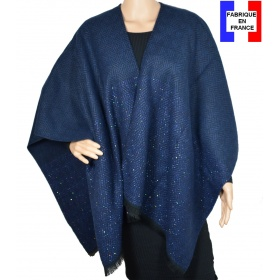 Poncho After bleu made in France