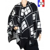 Poncho Anglo noir made in France