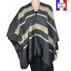 Poncho Animus gris made in France