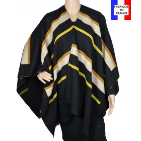 Poncho Animus noir made in France