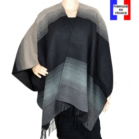 Poncho Alinéa gris made in France