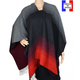 Poncho Alinéa rouge made in France