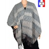 Poncho réversible Papyrus beige made in France