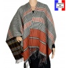 Poncho réversible Papyrus orange made in France