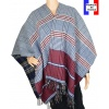 Poncho réversible Papyrus bleu made in France