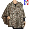 Poncho rond Raja beige made in France