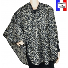Poncho rond Raja gris made in France
