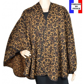 Poncho rond Raja marron made in France