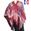 Poncho Agnella rouge made in France