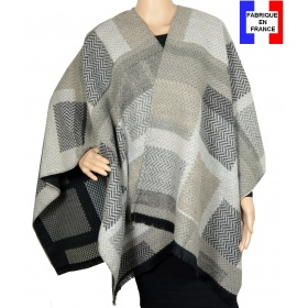 Poncho Agnella beige made in France