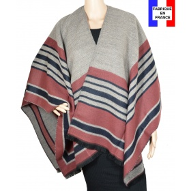 Poncho Arcade rose made in France