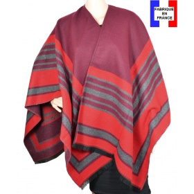 Poncho Arcade rouge made in France