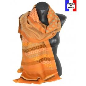 Etole mérinos Levant orange Made in France