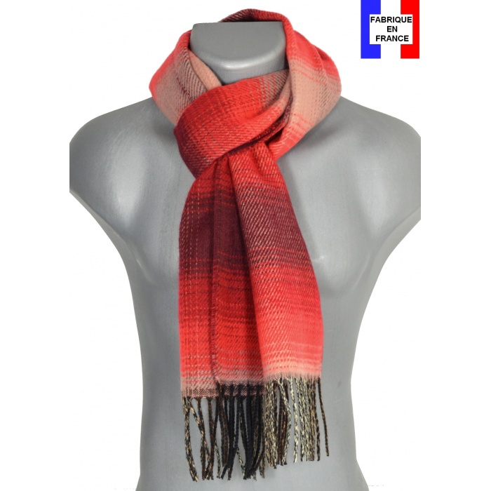 Echarpe homme Ombre rouge
