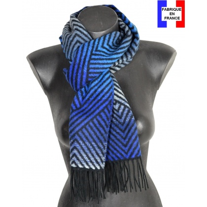 Echarpe cashcryl Gloss bleue