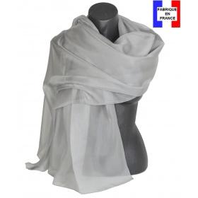 Etole cérémonie en soie grise fabriquée en France