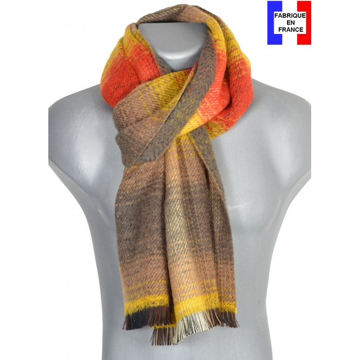 Echarpe homme osmose jaune made in France