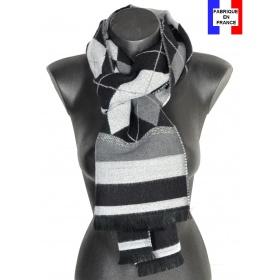 Echarpe Arlequin noir made in France