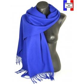 Châle en laine Iris bleu électrique