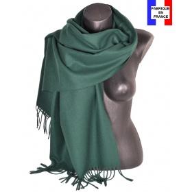 Châle en laine Iris vert made in France