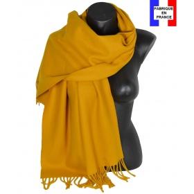 Châle en laine Iris moutarde
