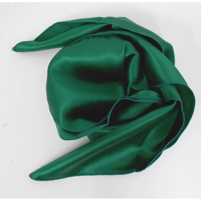 Carré en soie vert - Qualité Sup.