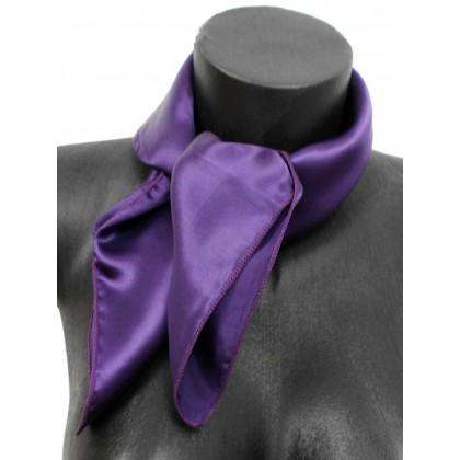 Carré en soie violet - Qualité Sup.