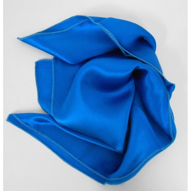 Carré en soie bleu - Qualité Sup.