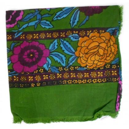Cheche vert à fleurs