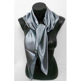 Grand carré en satin de polyester gris
