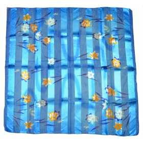 Grand carré en polyester bleu