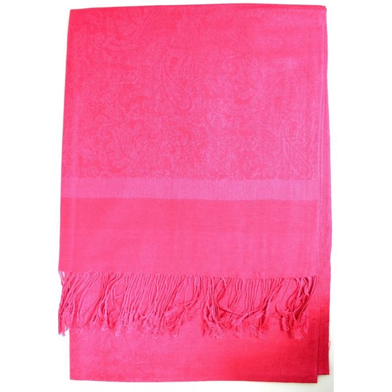 Echarpe type pashmina rose