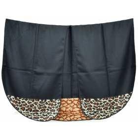 Poncho noir panthere