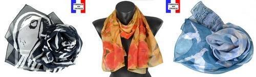 Foulard soie Made in France